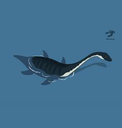 dinosaur plesiosaur in isometric style vector image