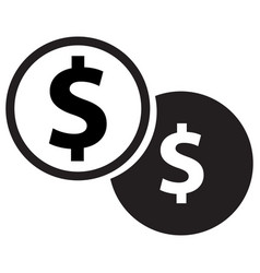 dollar coins icon vector image