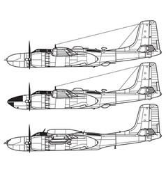 Douglas a-26 invader vector