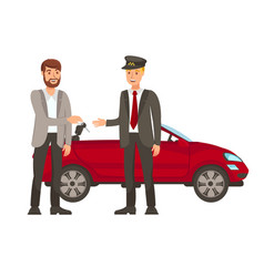 Driver and passenger flat vector