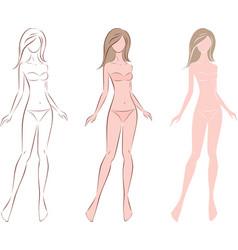 Female fashion silhouette vector