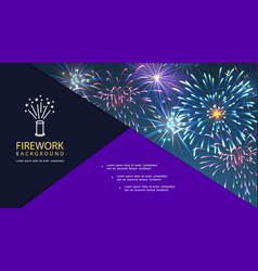 festival fireworks bright composition vector image