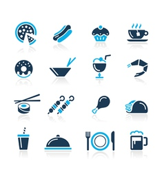 Food icons 2 azure series vector