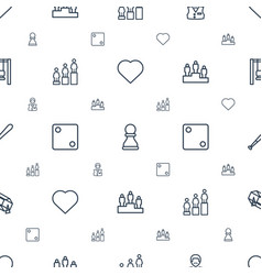 Game icons pattern seamless white background vector