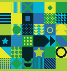 geometric pattern background flat design vector image