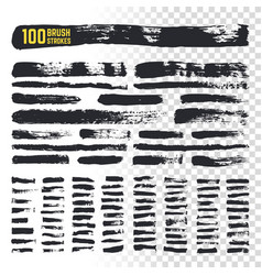 Grunge brush black watercolor strokes vector