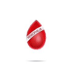 Hemophilia World Hemophilia Day Red drop of vector image