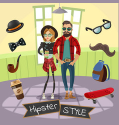Hipsters subculture vector