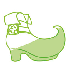 Irish elf boot vector