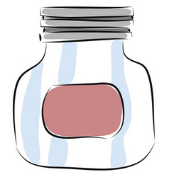 Jar hand drawn design on white background vector