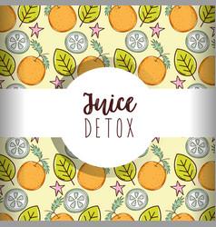 juice detox background vector image