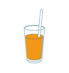 Juice in glass cup vector