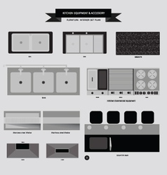 Kitchenvabinet furniture icon vector image