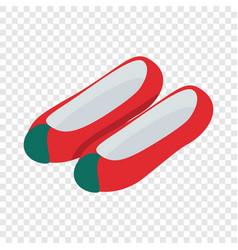 Korean shoes isometric icon vector
