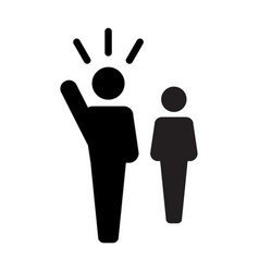 leader icon - man leadership vector image