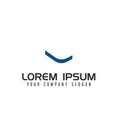 letter l negative space logo design concept vector image