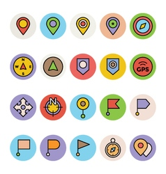 Map and Navigation Icons 1 vector image