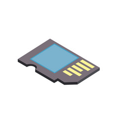 micro sd technology to save documents vector image