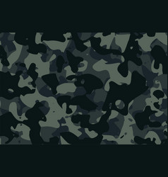 military camouflage dark army fabric texture vector image
