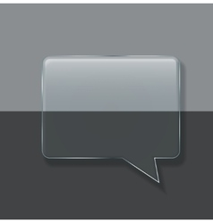 modern glass bubble speech on sample vector image