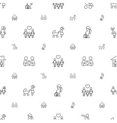 mother icons pattern seamless white background vector image