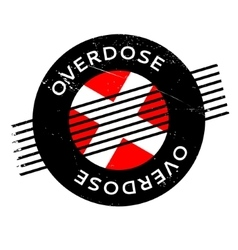 Overdose rubber stamp vector
