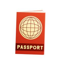 Passport flat icon vector