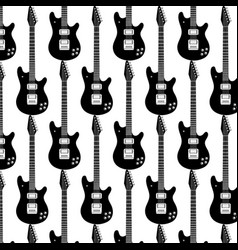 pattern with hand drawn guitar template for card vector image