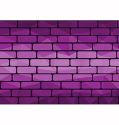 Polygon brick purple vector image
