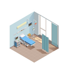 resuscitation room isometric composition vector image