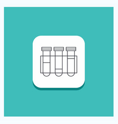 round button for test tube science laboratory vector image