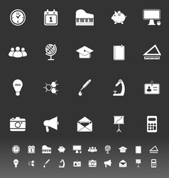 School icons on gray background vector