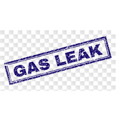 scratched gas leak rectangle stamp vector image