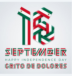 september 16 mexico independence day vector image