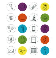 Set of doodles elements vector