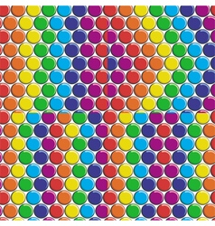 Set of seamless patterns with rainbow candy button vector