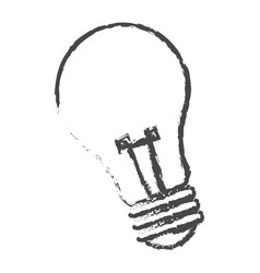 sketch bulb light electric lamp vector image