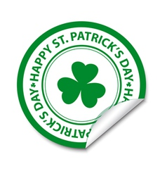 st patricks day sticker vector image