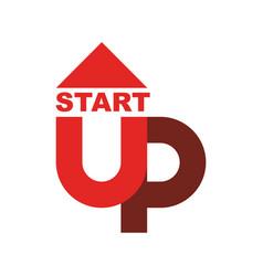 start up logo startup emblem running business vector image