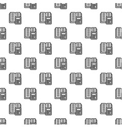 tax calculator pattern seamless vector image