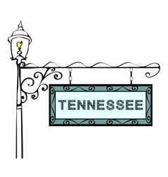 Tennessee retro pointer lamppost vector
