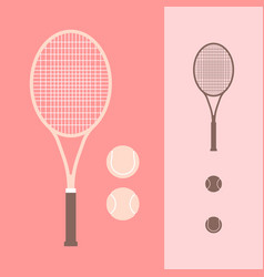Tennis and racket icon vector