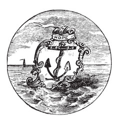 The official seal of the us state of rhode island vector