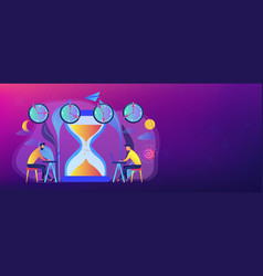 time zones concept banner header vector image