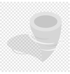 tornado isometric icon vector image