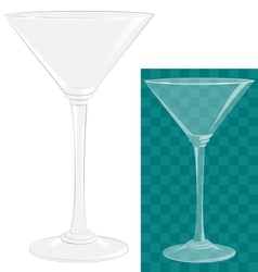 Transparent isolated martini glass vector image