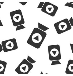 video camera icon seamless pattern background vector image