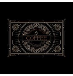 Vintage victorian western frame coffee label vector