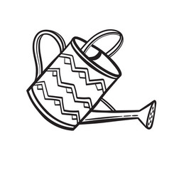 watering pot hand drawn sketch icon vector image