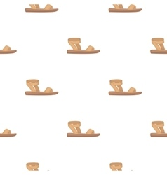 Woman sandals icon in cartoon style isolated on vector image